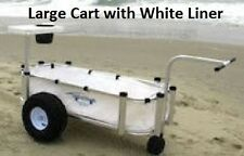 Large Fishing Cart Boat Beach Surf All Alluminum Construction - White Liner