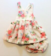 Baby Gap Textured Floral Print Apron Dress w/Matching Diaper Cover, 6-12 mos.