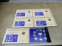 BRD , KMS / Coin Set PP , 2001 A D F G J komplett , im Original Folder