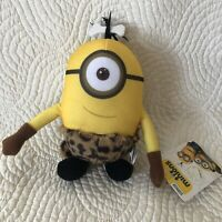 "Despicable Me Caveman Minion Stuart 8"" Plush Doll Stuffed Animal with Tail"