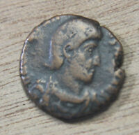 Constantius Gallus Fel Temp Reparatio AE15 mm Follis Soldier spearing enemy A1s