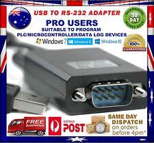 USB 2.0 to RS-232 DB9 9 Pin Serial Port Adapter Windows 10/ 8/ 7/ XP (32-64) iOS