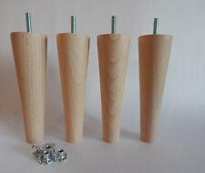 4 X in legno gambe/Piedi, Sedia, Divano, poggiapiedi, storage-moderno, filettatura M8.