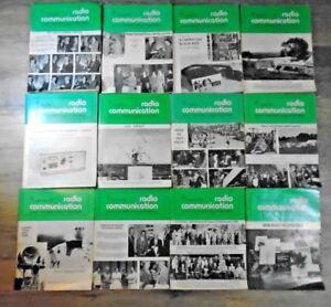 Vintage 1978 Radio Communication RSGB Members Magazine Complete Year 12 Issues