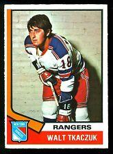 1974-75 OPC O PEE CHEE HOCKEY 119 WALTER TKACZUK EX-NM N Y NEW YORK RANGERS CARD
