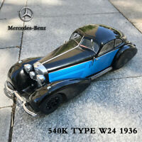 1:18 Scale 1936 Mercedes Benz 540K Type W24 Vintage Diecast Model Car Black&Blue