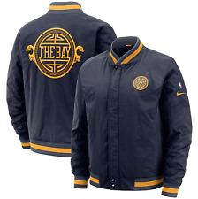 Nike Navy Golden State Warriors City Edition Courtside Full-Zip Bomber Jacket