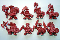 Oritet Dwarves, 8 Fantasy Plastic Toy Soldiers from Russia, 54mm, Very RARE