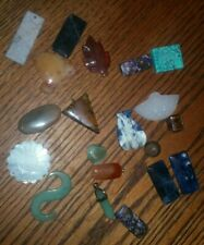 Carved Gemstones Mixed Lot Of 20