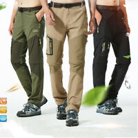 Men's Outdoor Quick Dry Convertible Lightweight Hiking Fishing Zip Off Work Pant