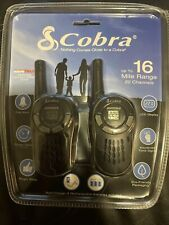 New Cobra MicroTalk Pair of Two-Way Radios Gmrs/Frs 16 Mile Range w/ Charger