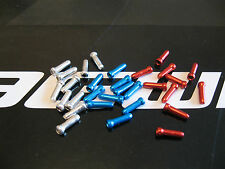 JAGWIRE - 10 X RED, 10 SILVER and 10 x BLUE ALLOY END CRIMPS for inner cables