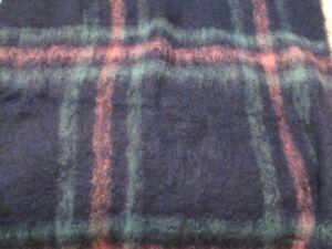 Mystic Valley Traders Blanket Pure New Wool  Mohiar Green Blue  NWT 50 x 70