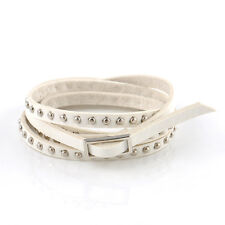Fashion Women Multilayer Leather Rivet Stud Bracelet Men Punk Wrap Cuff Bangle