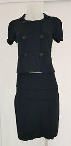 Scanlan & Theodore Black Knit Top & Skirt Set - Sz 8/10 - EUC