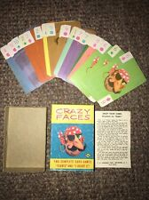 Vintage Crazy Faces Card Game I Doubt It And Eights Fairchild