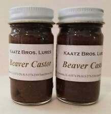 Beaver Castor 1 oz Beavers Castors ground lure lures Kaatz Bros Trapping 2 jars