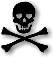 Autocollant sticker voiture moto pirate tete mort noir casque