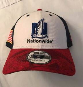 New Era Mens Dale Jr. #88 Nationwide Salute To Service 9FORTY Adjustable Hat Cap