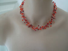 Collier Rouge robe de Mariée/Mariage/Soirée/Cérémonie perle original pas cher