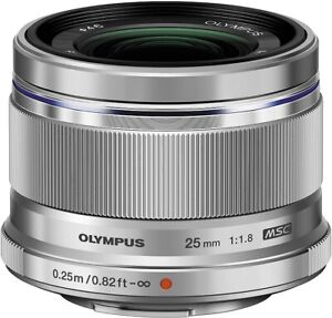Olympus M.Zuiko Digital 25mm f/1.8 Wide Angle Lens - Silver