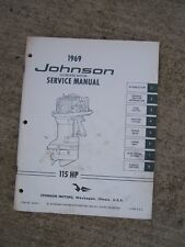 1969 Johnson 115 HP Outboard Motor Service Manual MORE BOAT ITEMS IN STORE  U