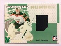 2006-07 ITG Heroes & Prospects Game-Used Number Josh Harding Vault Green 1/1