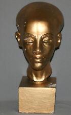 1974 AFRICAN MOZAMBIQUE HAND MADE PLASTER HEAD ART WORK SCULPTURE SIGNED