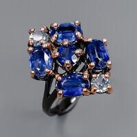 Kyanite Ring Silver 925 Sterling Handmade Design ring Size 6.75 /R146934