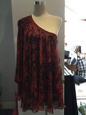 Ladies - 1 Sleeve Chiffon Swing Dress - Size 14 - New