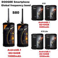 "DOOGEE S80 5.99"" Octa Core 4G Android8.1 Smartphone IP68 6+64G 10080mAh Dual SIM"