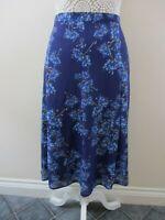 Honor Milburn (EWM) size 20 flared panel skirt navy pale blue floral pretty.