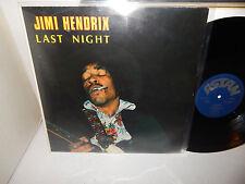 JIMI HENDRIX Last Night German Import 1981 Astan 20116 really nice! Psych LP NM