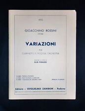 Musica Spartito - G. Rossini - Variazioni per clarinetto e piccola orchestra