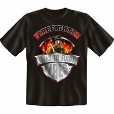"""Tee-Shirt Pompier """" Vies To Fight """", TAILLE S, Sapeurs-Pompiers Fire Hero"""