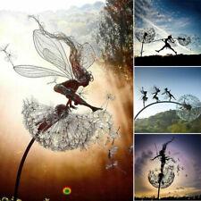 Metal Garden Decorative Stake Fairies Dandelions Dance Together Lawn Yard Patio