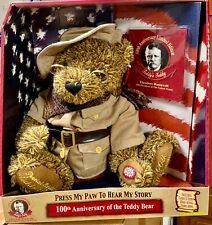 Theodore Roosevelt Teddy's Teddy Talking 100th Anniversary Bear Ltd Edition Nrfb