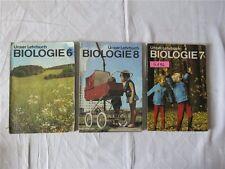 3 x DDR Schulbuch 6. 7. 8. Klasse Unser Lehrbuch Biologie 1982-1987 Hilfsschule