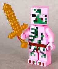 LEGO Minecraft Zombie Pigman Minifigure Gold Sword 21130 Mini Fig Pig Man