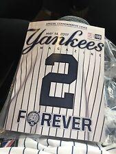 Brand new  Derek Jeter Day #2 Program Book 5/14/17 Monumental Park Ny Yankees
