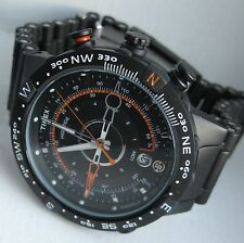 TIMEX Expedition Tide Temp Watch T49709 Black Steel Rare Never Worn New Battery