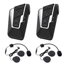2pcs BT Motorcycle Interphone Headset Bluetooth Motorbike Intercom Communication