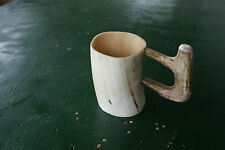 Cow horn/deer antler hand crafted coffee cup hot/cold drinking safe liquid glass