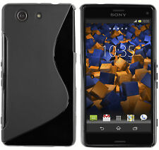 mumbi Hülle f. Sony Xperia Z3 Compact Schutzhülle S-TPU Case Tasche Schwarz