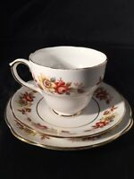 Russet Duchess China Cup And Saucer Trio