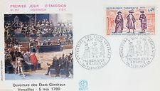 ENVELOPPE PREMIER JOUR - 9 x 16,5 cm - ANNEE 1971 - VERSAILLES  ETATS GENERAUX