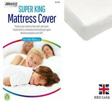 SUPER KING MATTRESS PROTECTOR Fitted Sheet Bed Sheet Bedding Cover Topper UK