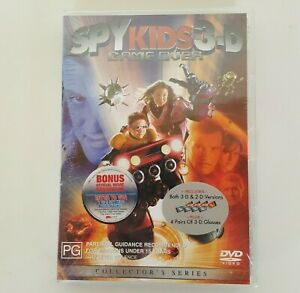 SPY KIDS 3-D Game Over DVD Pal 4 Includes 4 Pairs of 3-D Glasses *New Sealed