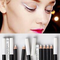 1Pcs White Eyeliner Pencil Eye Liner Pen Waterproof Long-Lasting Y4L3