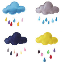 Cloud with 3D Colorful Raindrop Baby Room Wall Art Sticker Hanging Nursery Decor